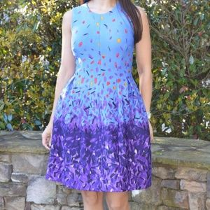 Anne Klein Confetti Fit and Flare Dress
